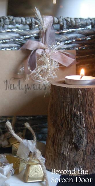 11+ Wedding Decor Ideas Including Wedding Bells, Wood Candles & #Hashtags