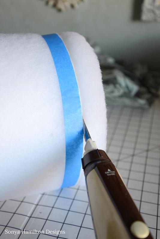 cutting bolster pillow form