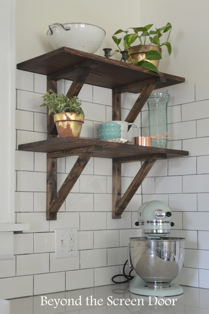 Rustic Kitchen Shelves Sonya Hamilton Designs