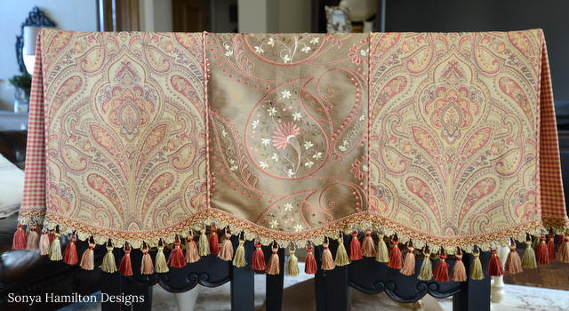 transitional box by pleated scalloped photo phoenix valance pleat bedroom
