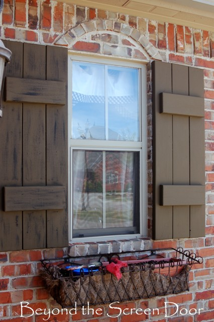 Painting Shutters Our Home 39 S Exterior Beyond The Screen Door
