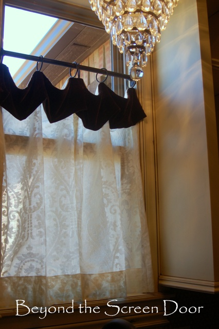 Brown Sheer Curtains