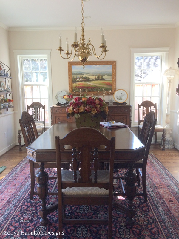 Pleated Cafe Curtains And A Timeless Dining Room