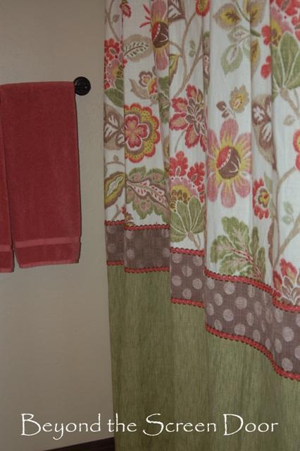 Tri Fabric & Trim Shower Curtain
