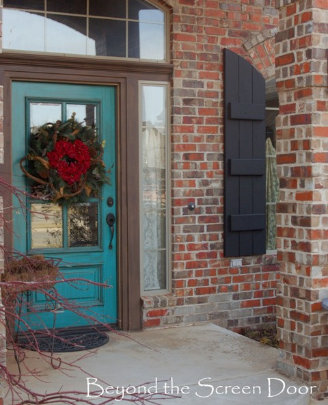 Painting shutters our home 39 s exterior beyond the screen door - Painted brick exterior pictures set ...