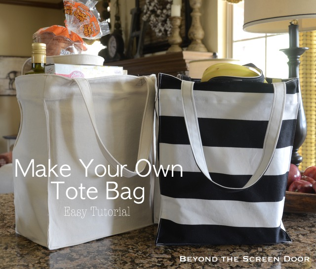 Tote Bag Tutorial – Make Your Own Grocery Totes