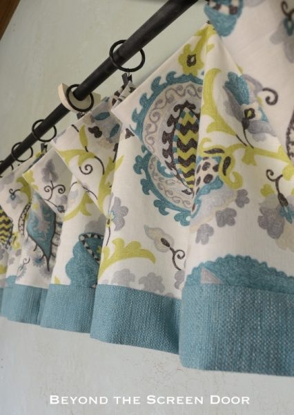 How-to Make a Lined Valance with Contrasting Band