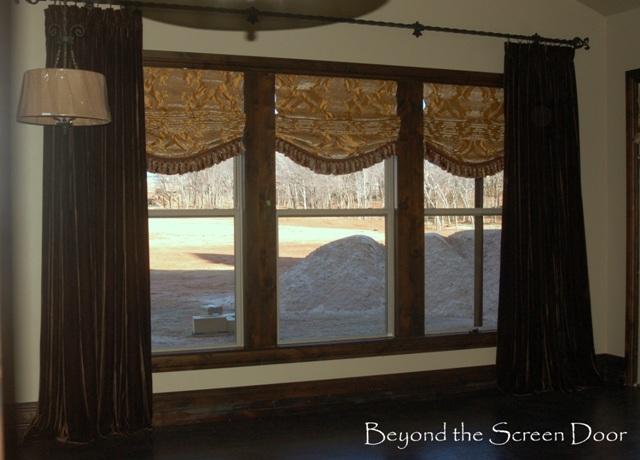 Velvet Panels - Loose Roman Shades
