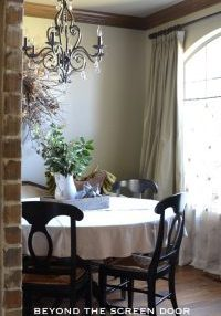 Dining Room Curtains Embassy Green wall color