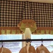 17-Houndstooth & Burlap Curtain