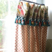 40-Multifabric Kitchen Cafe Curtain