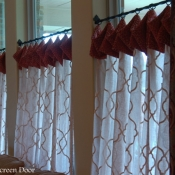 36-Cafe Curtains with contrasting Cuff