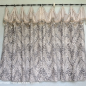 46-Ivory & Gray Cafe Curtain