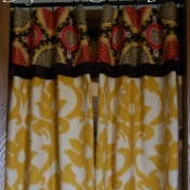 18-Yellow Damask Panels with Contrasting Patterned Cuff