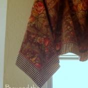 23-Floral Handkerchief Valance