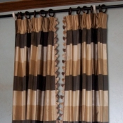 43-Silk Plaid Panels with lead edge trim