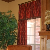 38-Floor Length Panels Paired With a Valance