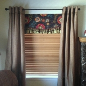 35-Ruffled Floral Undervalance with Long Panels