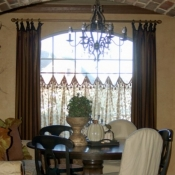 33-Striped Panels with Sheer Cafe Curtains