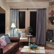 62-Black & White Houndstooth Curtains