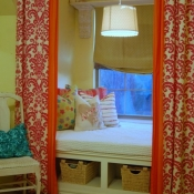 52-Layered Pink Damask & Orange Panels