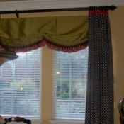 61-Floor Length Panels With A Faux Roman Shade Valance