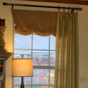 57-Floor Length Panels with a Faux Roman Shade Undervalance
