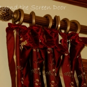 13-Valance with velvet ruffle