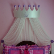 18A-Princess Bed Crown and Curtains