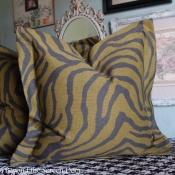 23E-Gray & Green Zebra Pillow