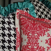 24E-Red Damask Pillow with trim detail.JPG