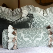 13F-Ruffled Bolster Pillow Plus Tutorial