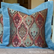 15F-Turquoise-Mitered-Flange-Pillow