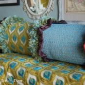 10A-Multi Fabric Bolster Pillow
