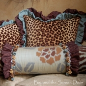 17A-aqua-brown-animal-print-pillows-2