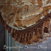 12-Ruffled and Tasseled Roman Shades