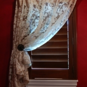 11-Ivory Sheer Bathroom Curtain
