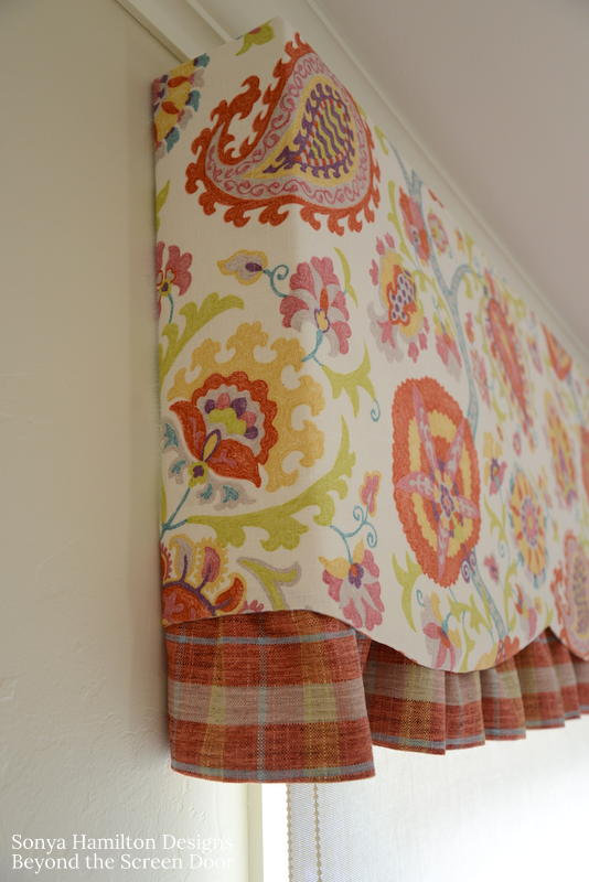 paisley and pink floral valance