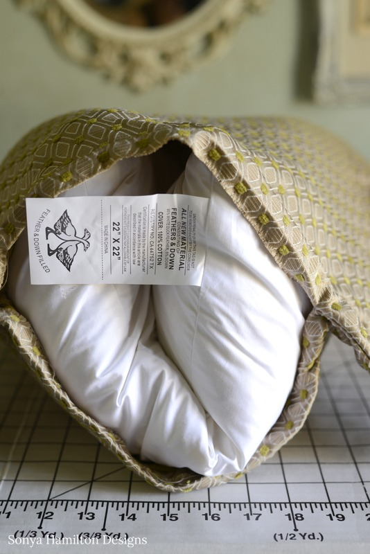 how to stuff a pillow cover