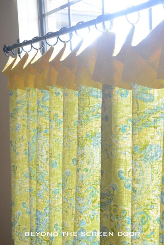 Green & Yellow Kitchen Cafe Curtains - Sonya Hamilton Designs