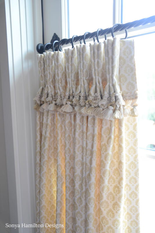 Tasseled & Pleated Cafe Curtain Cuff
