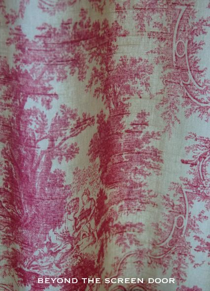 Red Toile Cafe Curtain