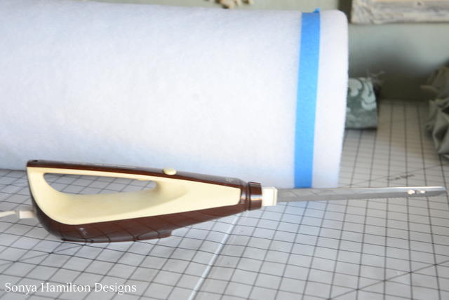 cutting bolster pillow form
