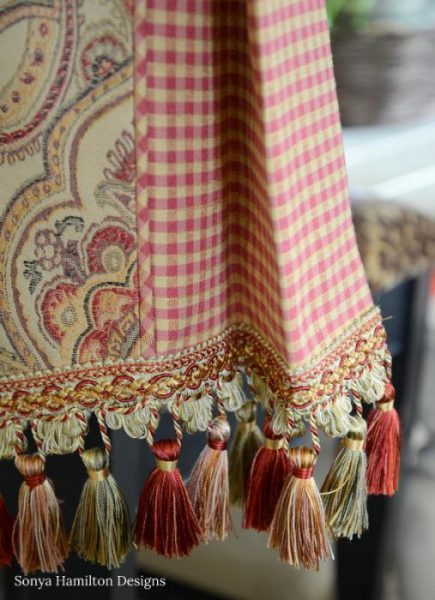 tassel detail for a pleated valance